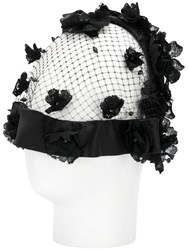 Dolce And Gabbana Floral Net Hair Accessory Black