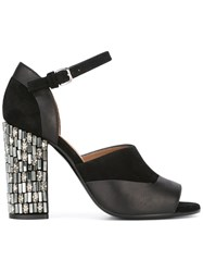 Marni Peep Toe Mary Jane Sandals Black