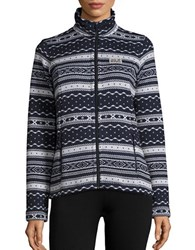 Jack Wolfskin Fair Isle Fleece Lined Jacket Night Blue