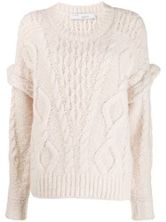 Iro Dropped Shoulder Jumper White