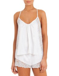 In Bloom Charmlee Lace Halter Camisole And Shorts White