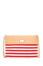 Ugg Nico Striped Leather Clutch Multi