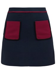 Ted Baker Colour By Numbers Naira Modern Contrast Pocket Detail Skirt Dark Blue