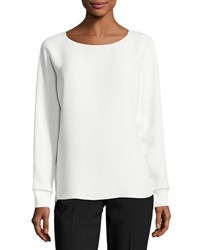 Vince Long Dolman Sleeve Relaxed Blouse Off White