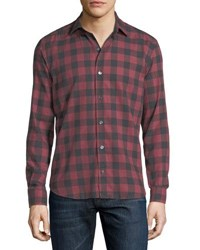 Culturata Buffalo Check Cotton Shirt Terracotta