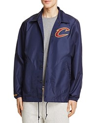 Mitchell And Ness Cleveland Cavaliers Coach Jacket 100 Exclusive Navy
