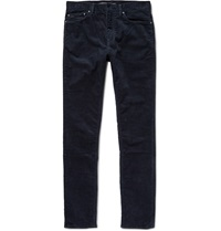 Michael Kors Slim Fit Cotton Corduroy Trousers Blue
