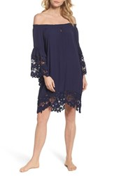 Muche Et Muchette 'S Jolie Lace Accent Cover Up Dress Navy