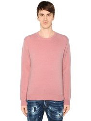 Dsquared Wool And Cashmere Blend Knit Sweater Pink