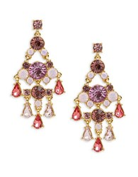 Carolee Spring Bouquet Chandelier Earrings Gold Mutli