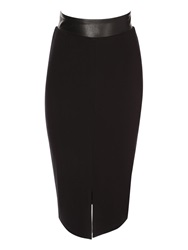 Jane Norman Front Split Pencil Skirt Black