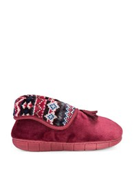 Muk Luks Fleece Fold Over Slippers Chianti