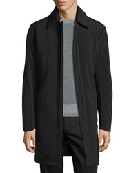 Theory Skodi Padded Zip Raincoat Black