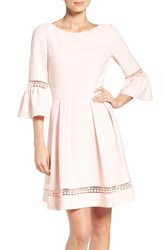Eliza J Women's Bell Sleeve Dress Blush