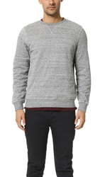 Hartford Lined Crew Sweatshirt Dark Grey Melange