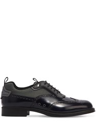 Prada Brushed Leather And Bike Derby Shoes Baltic Grey