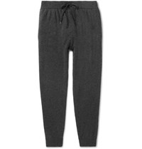 Derek Rose Finley Tapered Cashmere Sweatpants Charcoal