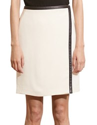 Lauren Ralph Lauren Stretch Crepe Wrap Skirt Cream Black