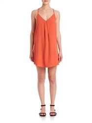 Joie Mitsou Silk Tank Dress Coral Rose