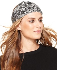 David And Young Marled Ombre With Sequin Yarn And Rosette Headband Camel