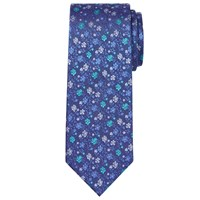 Chester Barrie By Floral Silk Tie Blue Green