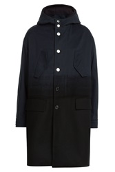Neil Barrett Parka With Cotton And Virgin Wool Blue