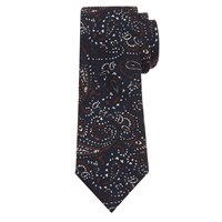 John Lewis And Co. Paisley Print Wool Tie Navy Rust