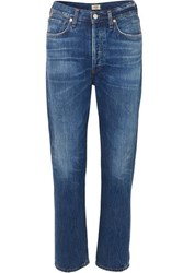 Citizens Of Humanity Charlotte High Rise Straight Leg Jeans Mid Denim