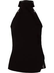 Giuliana Romanno High Neck Sleeveless Blouse