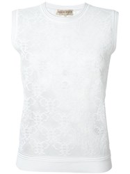 Emilio Pucci Sheer Logo Tank Top White
