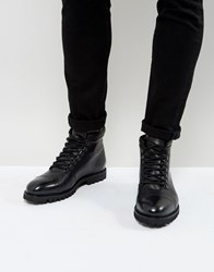 Zign Leather Hiker Boots Black