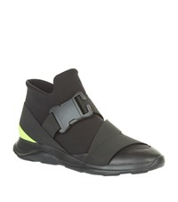 Christopher Kane Safety Buckle High Top Sneakers Male Black