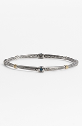 Konstantino 'Hermione' Station Bangle Silver Blue Topaz