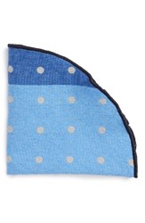 Alexander Olch Men's Polka Dot Silk Pocket Round