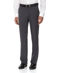 Neiman Marcus Skinny Wool Dress Pants Gray