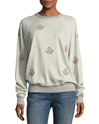 The Great College Sweatshirt Gray Pattern