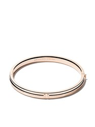 Tiffany And Co. Co 18Kt Rose Gold T Two Hinged Diamond Bangle Metallic