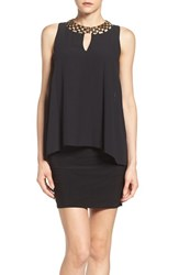 Laundry By Shelli Segal Women's Embellished Chiffon And Jersey Popover Dress