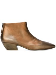 Marsell Low Heel Ankle Boots Brown