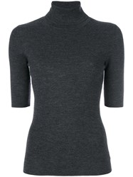 Theory Short Sleeve Jumper Women Merino S Grey