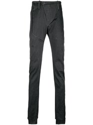 Lost And Found Ria Dunn Slim Fit Chap Trousers Black