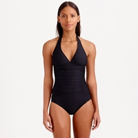 J.Crew D Cup Ruched Halter One Piece Swimsuit