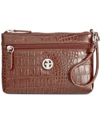 Giani Bernini Croc Embossed Wristlet Only At Macy's Brown