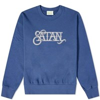 Aries Satan Sweat Blue