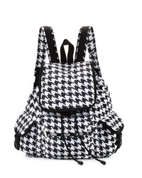 Le Sport Sac Lesportsac Voyager Houndstooth Print Flap Top Backpack Chic Noir