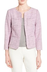 Women's Cece By Cynthia Steffe Four Pocket Collarless Tweed Jacket