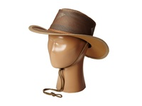 Stetson Mesh Covered Safari With Chin Cord Beaver Safari Hats Tan