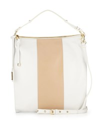 Taryn Nappa Bicolor Hobo White Latte Badgley Mischka
