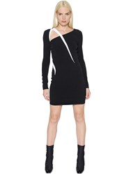Thierry Mugler Long Sleeve Stretch Cady Dress