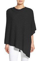 Women's Eileen Fisher Organic Linen And Cotton Knit Poncho Black